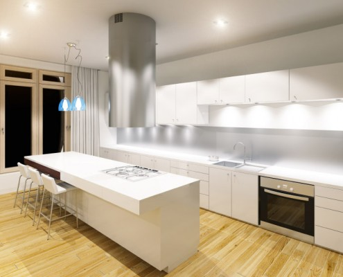 Silestone Blanco Zeus keittiö