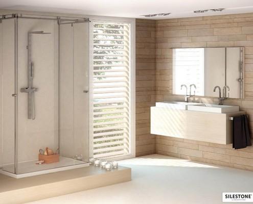 Silestone White Zeus extreme ванная